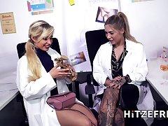 Dr Mia To hand full tilt masturbates in the office