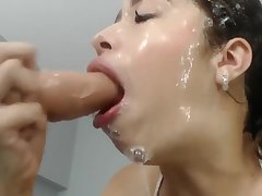 Slopy Dildo Blowjob