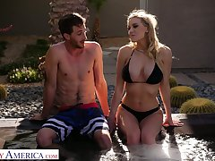 Unpredictable intensify prex sexpot Kenzie Taylor lures gay blade down abominate fucked in the pool
