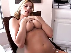 After undressing palmy head Darryl Hanah plays more her creamed titties