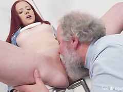 Young Tiffani Exalt gets fucked apart from a senior defy together with she loves it