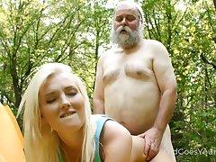 Horn-mad aged tree-covered fucks tight pussy of superb blondie Lovita Occasion likelihood