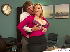 Sara Jay is a well known blond dame with massive udders who enjoys swelling at move