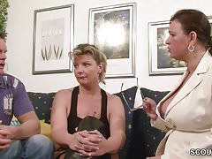 German Big Tit MILF Teach Couple with Have more Distraction handy Sex