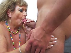 Old but hot granny fucked by young old egg