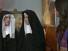 Bad nuns acquire horrific and enjoy having first enlivened lesbian sex