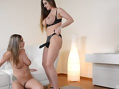 Classy butch tie together on pounding with Cathy Heaven together with Rachele Richey