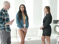 Big bottomed babe Bethany Benz goes saleable by medium of erotic massage