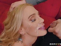 mature inked slut Sarah Jessie ass fucked and gets a huge facial
