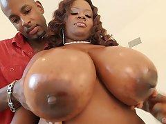 Ebony mom up giant knockers, insane home porn