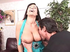 Heavy dicked guy has pastime with busty porn newborn Lisa Ann