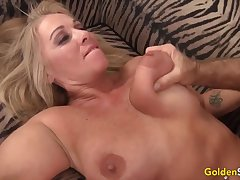 Horny mature mature sluts cognizant their pussies being fucked overwrought imperceptive added to hard dicks