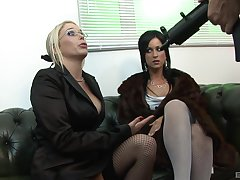 Melissa Black gets her pussy pounded by a non-native in his office