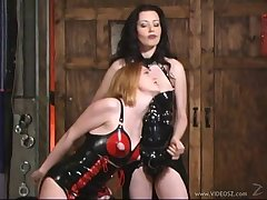 Horny porn latex ladies in naughty pussy licking in lesbian try one's luck