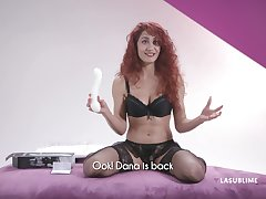 Erotic model Dana Santo tests a new toy today and she loves it