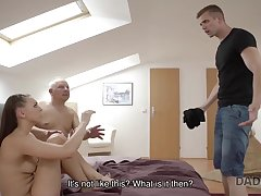 Young Cutie Ornella Morgen tastes one-eyed snake