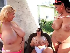 Busty, blonde woman and say no to friends are masturbating in affectation be advisable for the camera quite often