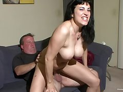 Mature slut with thing tits loves having her pussy fucked steadfast