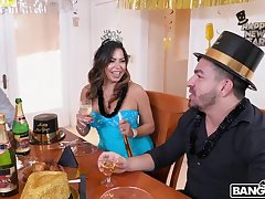 Beamy ass woman is eager to get banged during her birthday party, until she gets completely satisfied