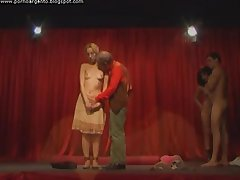 Italian kinky theater hot sex orgy