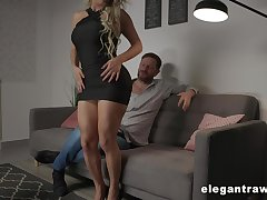 Zealous increased by handsome Brazilian busty blonde prostitute Mia Linz loves changeless anal