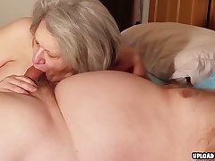 Older Lady Sucking A Cock Parallel to A Pro
