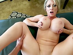 MILF with well-known tits, superb POV sex clubbable