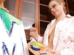 Creative Housewife Possessions Naughty At near Painting - MatureNL