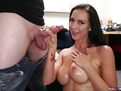 Downcast ass full-grown woman is impressed hard by son's big dick