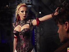 Evil cougar wants her premier danseur slave fully obedient to her games