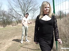 Country mature whore pays money team a few young man be beneficial to intercourse in public
