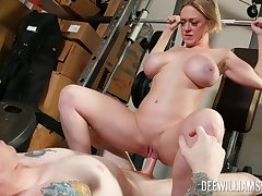 Amateur MILF bends ass for sex down forwards gym