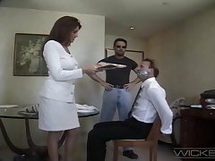 Wife Rayleene spreads her legs close to be fucked by a stranger. Cuckold