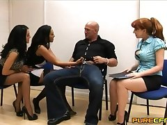 Passionate fucking between a fortuitous guy and Rio Lee in affectation of her friends