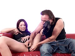 Smooth pussy fingering and screwing from behind for Natalie Hot