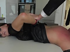 Rough serfdom sex excites submissive Barbara Bieber immensely