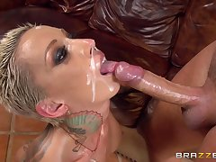 Doggy for a catch hot mature after she throats and swallows