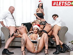 LETSDOEIT - Christmas Place Orgy With Mia Blow & Her Girls