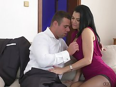 Man's steel inches suit this spectacular MILF fro tiptop hard sex