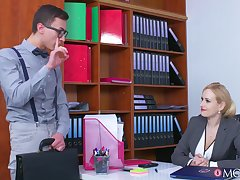 Busty office MILF tries the extremist guy for a few special rounds