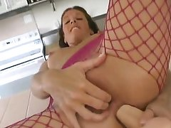 Busty MILF toying and fingering