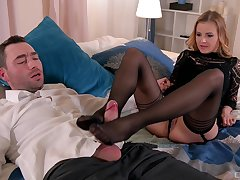 Out-and-out pleasures for mommy in scenes of foot fetish XXX