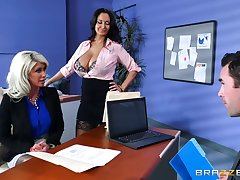 Riley Jenner is taught office politics by sexy Ava Addams