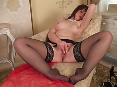 Video of mature brunette Toni Lace having some naughty fun