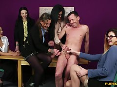 Handsome gay blade gets his dick sucked by sexy Chantelle The dickens and friends
