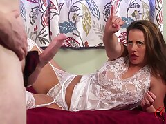 Panty Pervert Stokes Dick For Sarah Snow