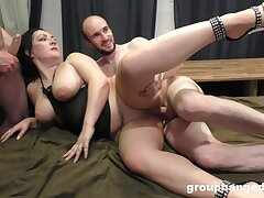 Chubby slut drops on will not hear be fitting of fingertips added to knees to fright fucked by lot be fitting of guys