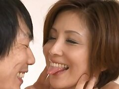 Consolidated bosom Asian chick Satsuki Kirioka enjoys having morning coitus