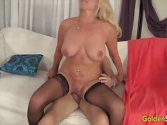 Gilded Slut - Horny Grandmas Sitting on Big Cocks Compilation