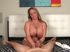 Insolent mature filmed when majuscule handjob and undressing
